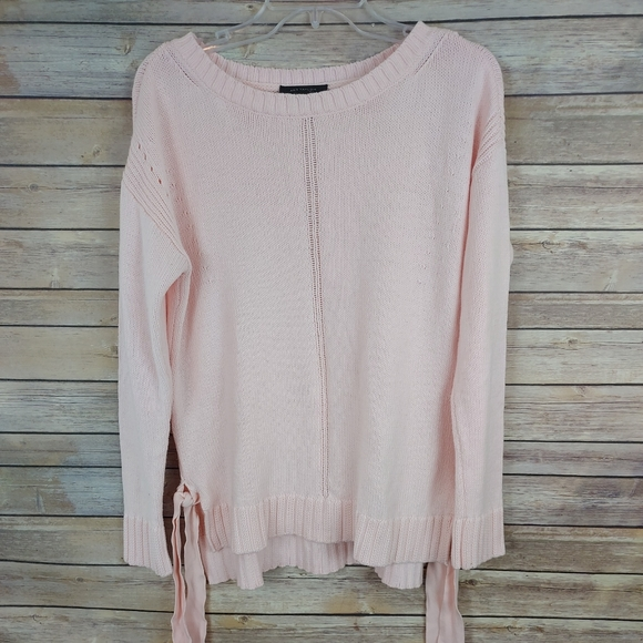 Ann Taylor Small Light Pink Tie Side Sweater